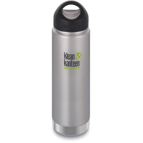 Klean Kanteen Wide Vacuum Insulated - Gourde - Stainless Loop Cap 592ml argent